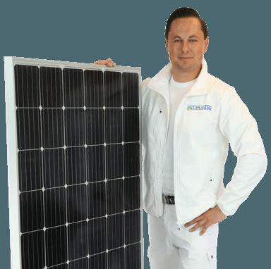 Energiedak met zonnepanelen